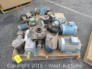 (12+) Assorted Motors, Reducers, and Pump Components