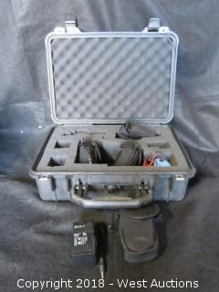 (3) HW Sealed Lead-Acid Rechargeable Battery in Casing with Extra Case, AC Power in Pelican Case
