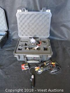 Bullet Camera KPC-HD230 C with Accessories and Pelican Case