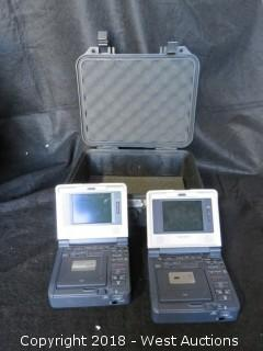 (2) Sony Digital Video Recorder MiniDV GV D1000 NTSC with Pelican Case