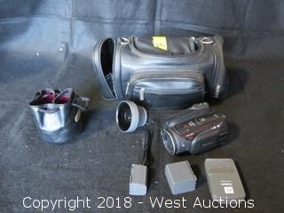 Canon Vixia HV30 A Digital Camcorder with (2) Lens, Accessories and Carrying Case