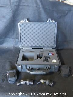 (2) Led Zeppelin Pepper Kit with Accessories and (2) Rechargeable Batteries in Pelican Case