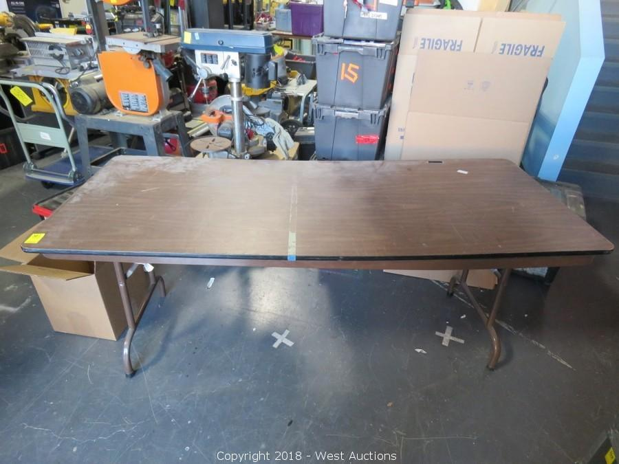 West Auctions Auction Online Auction Of Audio Lighting Motion Picture Production Equipment And Tools For Sale In Los Angeles Ca Item 6 Wood Folding Table
