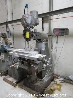 Cadillac Vertical Milling Machine with Wet Drilling Pump Assembly and Magnetic Chuck