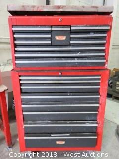 Craftsman Two Tier Portable Tool Box with Tools