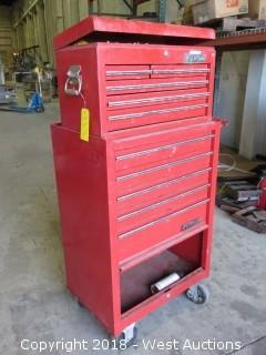 Waterloo Two Tier Portable Toolbox Full Of Tools