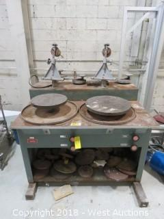 Howard Strausbaugh 6J Dual Station Lapping Machine with (20) Polish Tables