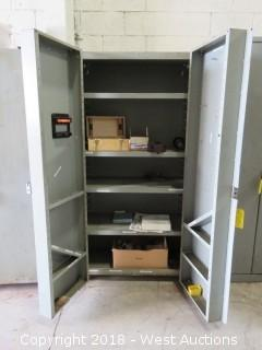 "74"" Solid Steel Cabinet With Lathe Chuck and PVC Valves"