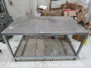 Aluminum Top Work Table with Vise 5' x 3'