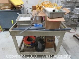 Rubbermaid Utility Cart with Contents