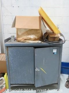 3' Wide Steel Cabinet with Contents