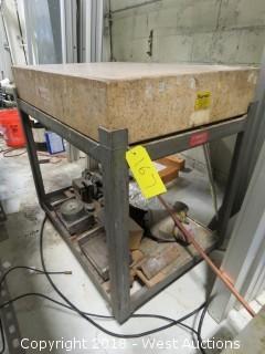 Starret 3' X 2' Granite Precision Block with Portable Stand