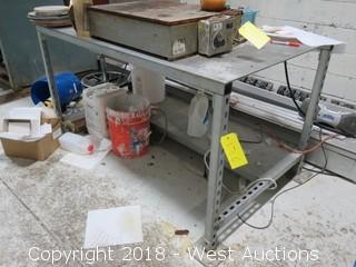 5' X 2.5' Aluminum Top Work Table (Table Only)