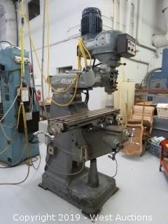 Alliant Vertical Mill with Frachier Electronic RPM Control