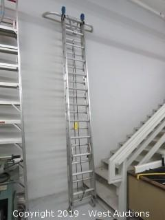 Werner Aluminum 24' Extension Ladder With QuickClick Stabilizer