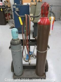 Torch Cart with Tanks and Accessories