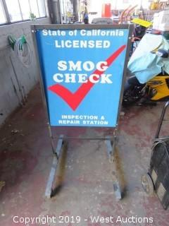 """Licensed SMOG Check"" Sign"
