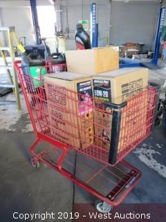 Refrigerant and Oil Contents in Shopping Cart