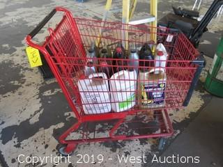 Assorted Oils in Shopping Cart