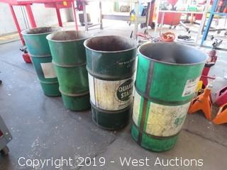 (4) 20 Gallon Barrels