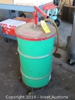 Portable 20 Gallon Oil Barrel with Pump