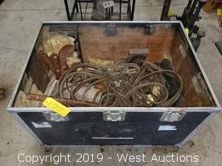 Road Box and Contents: Acetylene Hoses, Steel Clamp