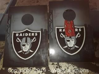Raiders Bean Bag Game (2 Pieces)
