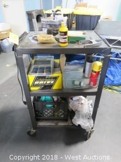 """38"""" Projector Cart with Spray Cleaning and Tools"""