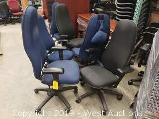 (6) Assorted Office Chairs (Blue/Black)