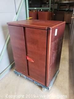 Cherry Wood (2) Drawer Office Cabinet
