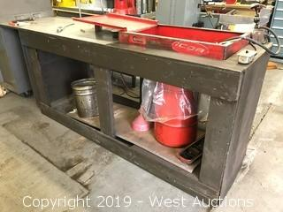 Work Bench with Tool Cleaner Machine