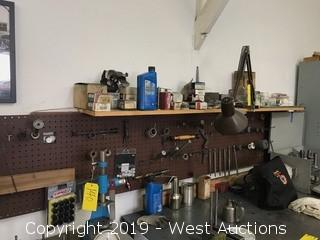 Contents of Wall; Various Tooling, Disc, Rods and More