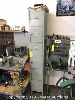 (1) Locker Unit with Valve Reseating Set, Craftsman Socket Tools, Skil Belt Sander
