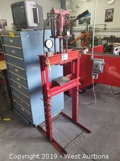 F.A. Nugier 12 Ton Hydraulic Jack Press