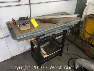 Work Table and Contents; Drill Bits, Magnets and More