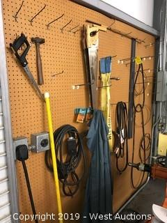 Contents of wall; Tools and equipment