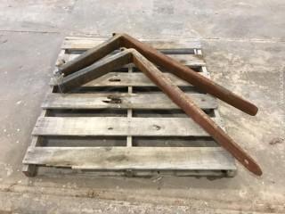 (2) 4' Forklift Forks