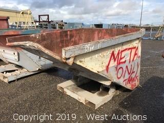 "Tilting Metal Dump Bin 65"" x 54"""