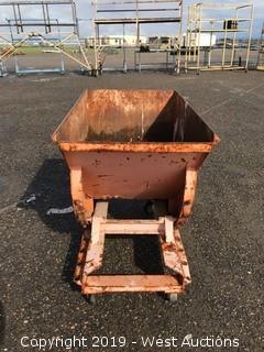 "Tilting Metal Dump Bin 24""x41"""