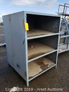 "Metal Shelving Unit 43"" x 43"" x 5'"
