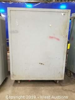 Rolling Steel Cabinet w/ Solid Door