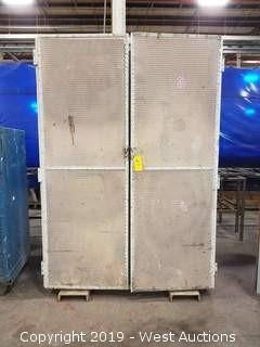 """Steel Cabinet  w/ Mesh Doors 60""""×31""""×88"""""""
