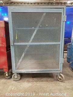 """Rolling Steel Cabinet w/ Mesh Doors 49""""×48""""×70"""""""