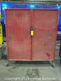 """Rolling Steel Cabinet 62""""×25.5×70.5"""""""