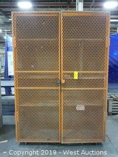 """Steel Cabinet w/ Mesh Doors 60""""×30.5×87"""""""
