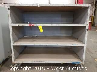 "Rolling Steel Shelf 60.5""×36.5""×56"""