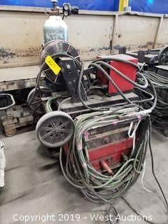 Lincoln Electric CV-300 Welder with Feed/Bottle