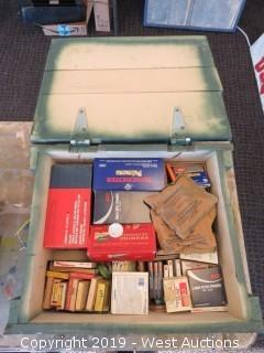 Primers: Wood Ammo Case Full Of (6000)+ Ammunition Rife/Pistol Primers