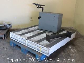 Weather Guard 4'x4' Roll Out Truck Bed Tool Box And Cab Box