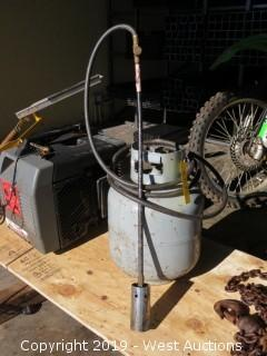Propane Tank With Rosebud Flame Attachment